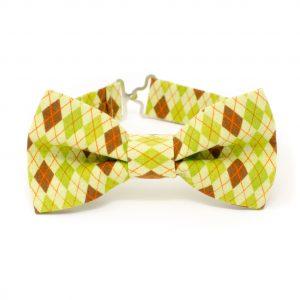 Green Argyle Bow Tie