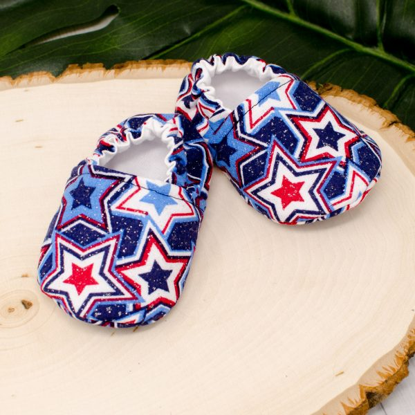 Red White Blue Stars Shoes