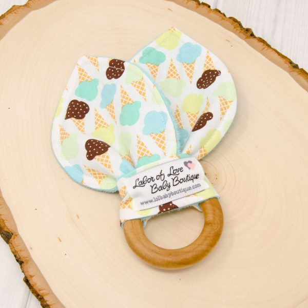 Ice Cream Cones Teething Ring