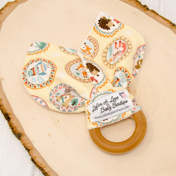 Camp Along Critters Teething Ring