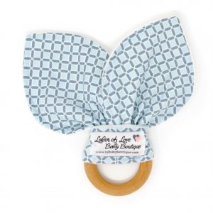 Blue Squares Teething Ring