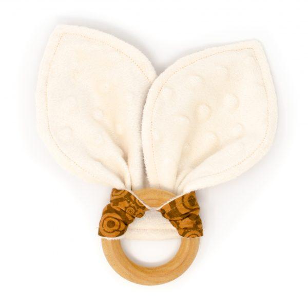 Brown Gears Teething Ring