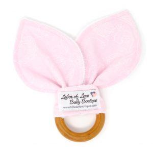 Light Pink Floral Teething Ring