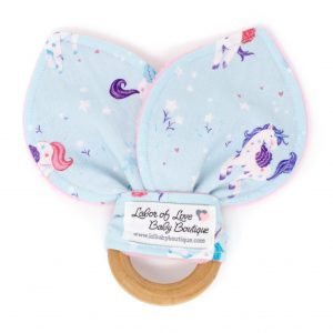 Unicorn Kisses Teething Ring